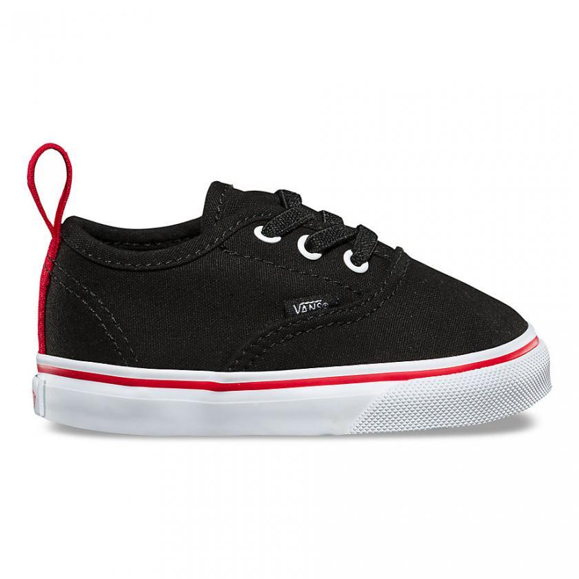 Vans Authentic – Kinder Pop Authentic Gummischnürsenkel Black/Racing Red