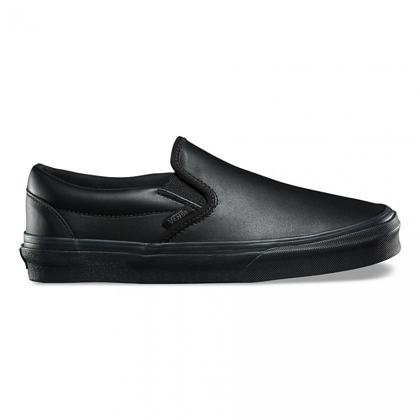 Vans - Damen Classic Leder Black/Mono