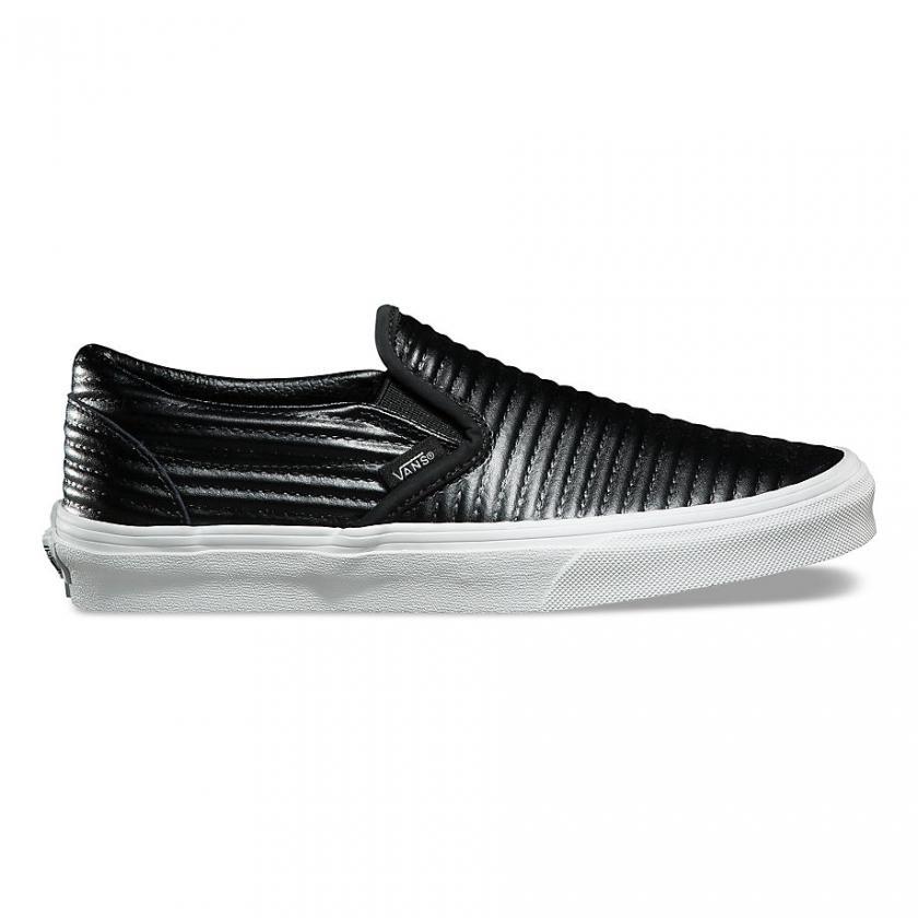 Vans – Damen Classic Leder Black/White