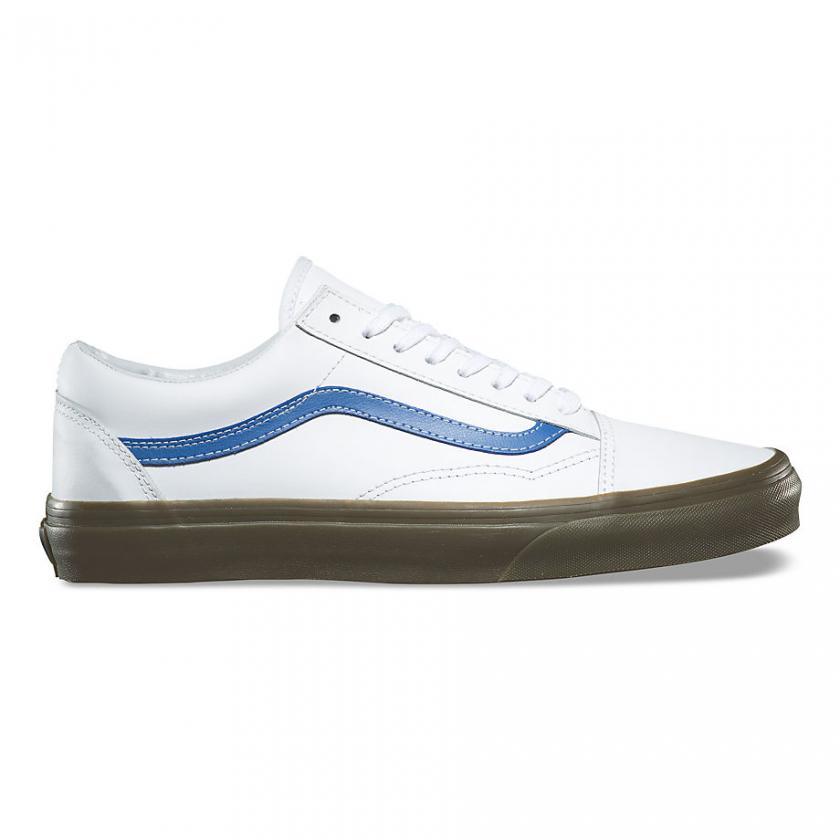 Vans Old Skool – Herren/Damen Bleacher Old Skool True White/Delft/Gum