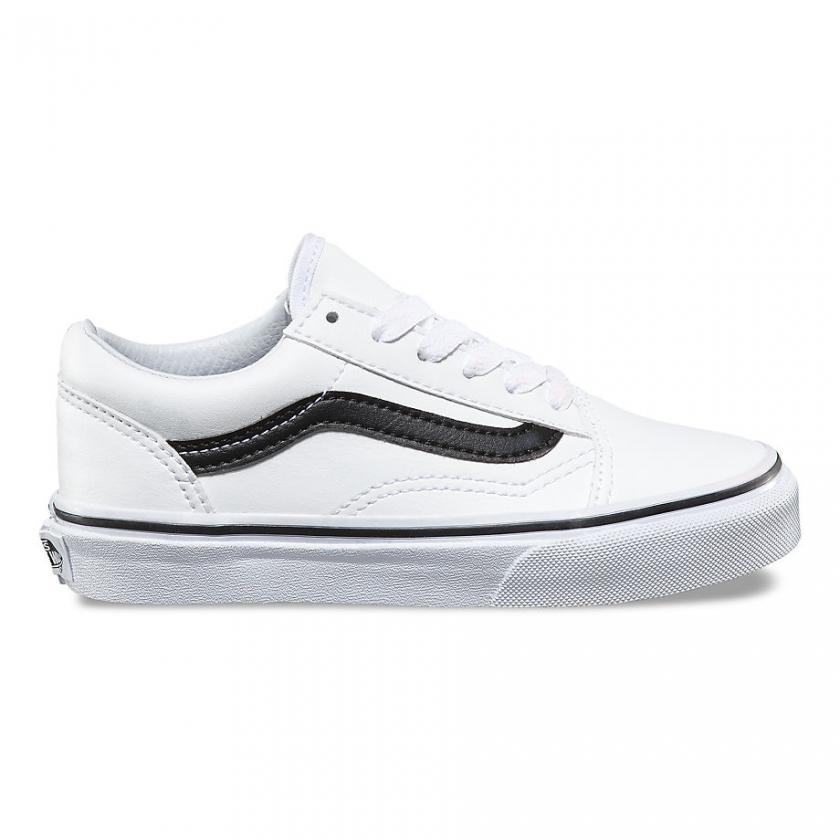 Vans Old Skool – Kinder Classic Tumble Old Skool True White/Black