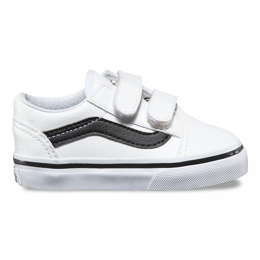 Vans Old Skool – Kinder Classic Tumble Old Skool V True White/Black
